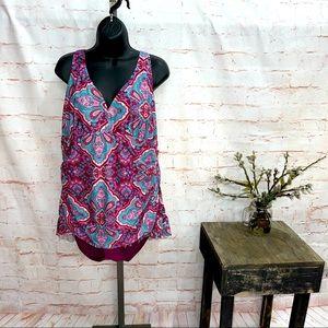 Aqua couture one piece swimsuit women's size 20W
